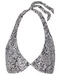 Heidi Klein Mombasa Snake Print Halterneck Bikini Top