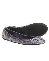 Footzyfolds Snake Ballet Shoes Purple