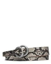 Michl kors double ring python belt medium 156891