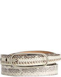 Calvin Klein Seam Stitch Snake Skinny Belt