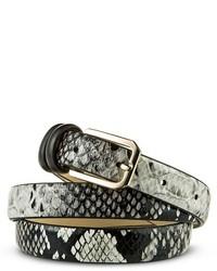 Merona Snakeskin Print Belt Black Tm