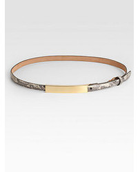 W.KLEINBERG W Kleinberg Embossed Python Leather Belt