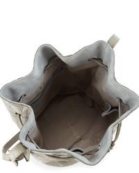 e151b32d3c08 Halston Heritage City Casual Croc Embossed Bucket Bag Heather Gray ...