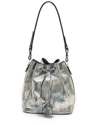 Rochas Snake Embossed Drawstring Bag
