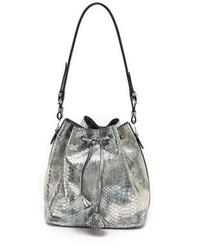 Snake embossed drawstring bag medium 83817
