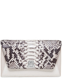 Anouk python leather chain envelope clutch bag medium 454684