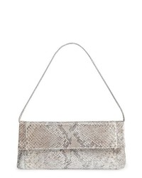 Nancy Gonzalez Gotham Genuine Python Metallic Clutch
