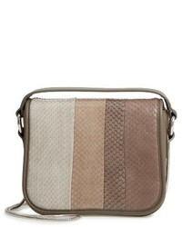 Ikuya leather genuine snakeskin clutch grey medium 4423234