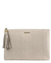 GiGi New York Personalized Uber Python Embossed Leather Clutch