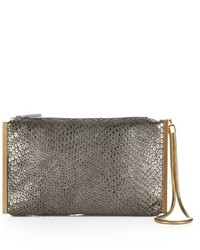 Lanvin Reptile Effect Leather Clutch