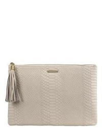 GiGi New York Uber Python Embossed Leather Clutch