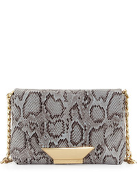 Ziggy snake embossed leather crossbody bag misty viper medium 536110