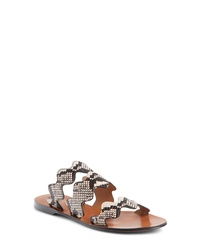 Chloé Lauren Scalloped Slide Sandal