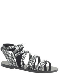 J.Crew Callista Embossed Gladiator Sandals