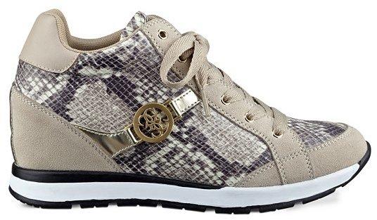 25625a1d184 $89, GUESS Lanelan Python Print Wedge Sneakers
