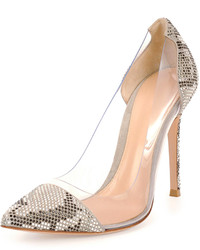 Gianvito Rossi Clearsnake Print Pump Dust