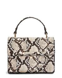 Topshop Mini Marissa Snake Embossed Bag