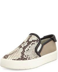 Bram python print slip on sneaker blackwhite medium 185247