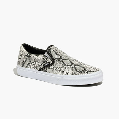 Madewell Vans Classic Slip Ons In Snake Print   Where to