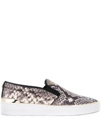 Michael michael kors michl michl kors snakeskin effect slip on sneakers medium 787758