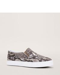 LOFT Snake Print Slip On Sneakers