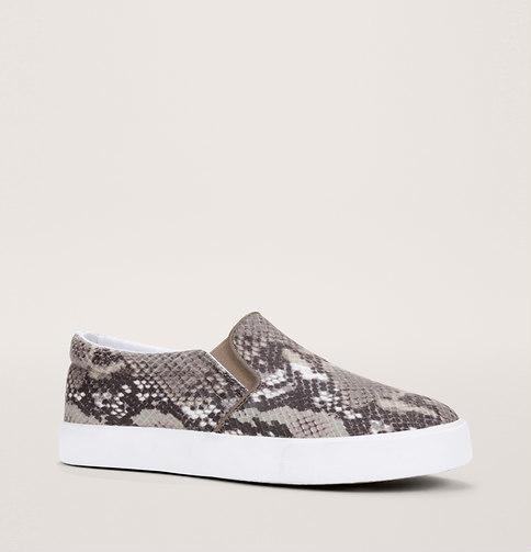 LOFT Snake Print Slip On Sneakers, $49