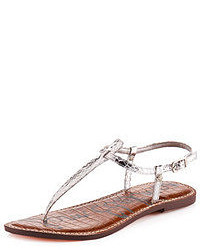 Gigi snake embossed thong sandal medium 51983