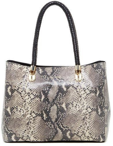 0e98509075d ... Cole Haan Benson Snake Embossed Large Leather Tote ...
