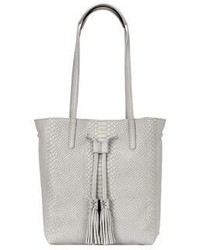 Hannah personalized python embossed leather tote medium 3716920