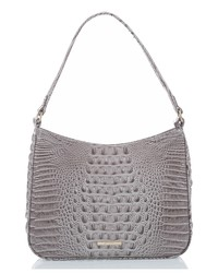Brahmin Noelle Croc Embossed Leather Hobo Bag