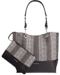 Calvin Klein Pouch And Reversible Snake Print Tote