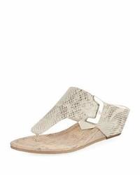 Dart snake embossed sandal light gray medium 3697517