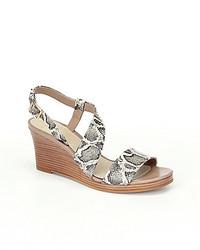 Cole Haan Ravenna Snake Wedge Sandals