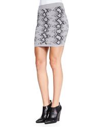 Pam gela snake print knit miniskirt medium 118984