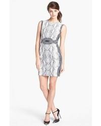 Diane von Furstenberg Bey Snake Print Sleeveless Dress