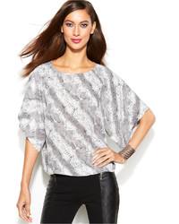 Dolman sleeve snakeskin print blouse medium 117345