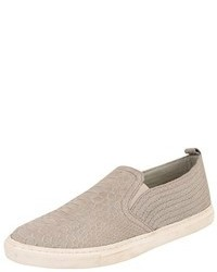 Grey Snake Slip-on Sneakers