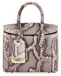 Alexander McQueen Heroine 21 Mini Rock Python Tote Bag