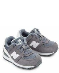 New Balance Babys Lace Up Suede Sneakers