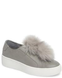 Steve Madden Breeze Faux Fur Pom Sneaker