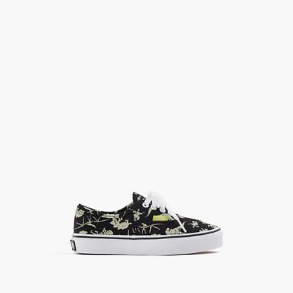 J.Crew Kids Vans Authentic Glow In The Dark Dinosaurs Sneakers In Smaller Sizes