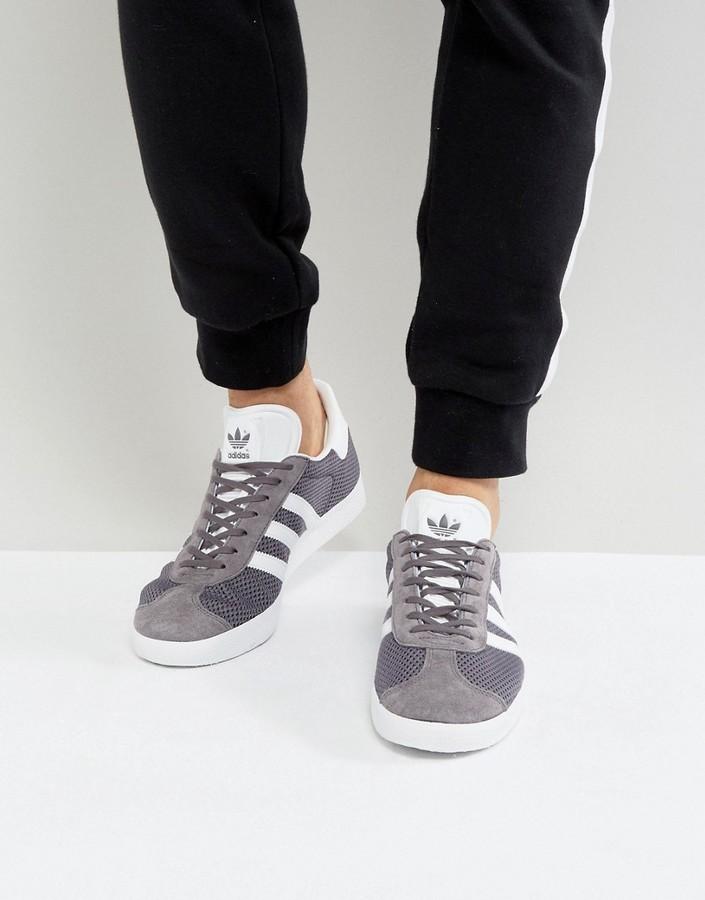 $80, adidas Originals Gazelle Sneakers In Gray Bb2756