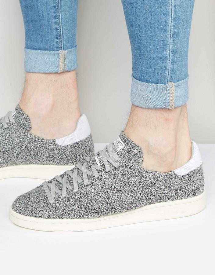 huge discount c6de4 57211 $110, adidas Originals Stan Smith Primeknit Sneakers In Gray S80069