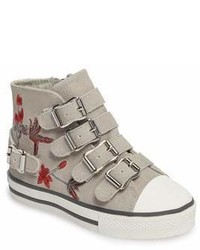 Ash Vava Flowers Embroidered High Top Sneaker