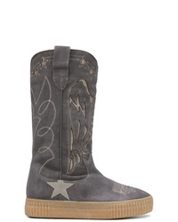 Golden Goose Deluxe Brand Embroidered Mid Calf Boots