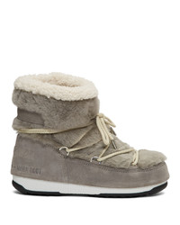Yves Salomon Grey Moon Boot Edition Shearling Boots