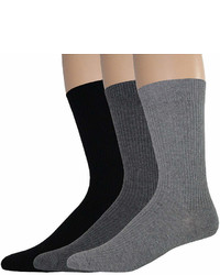 Dockers 3 Pk Rib Crew Socks