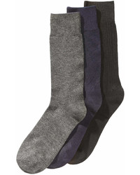 Perry Ellis 3 Pk Stay Dry Comfort Socks