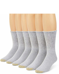 Gold Toe 6 Pk Athletic Crew Socks