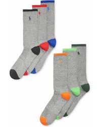Polo Ralph Lauren Athletic Celebrity Crew Socks 6 Pack